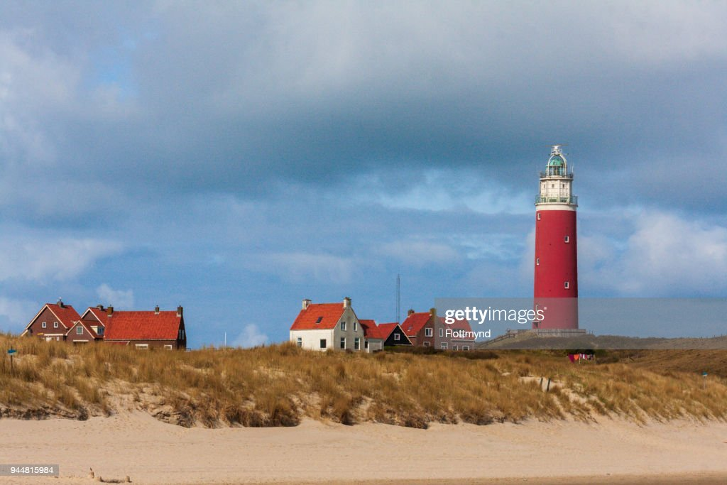 Eierland Lighthouse on the island of Texel, the Netherlands : Stock Photo