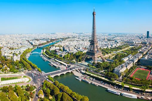 Eiffel Tower aerial view, Paris 1145422105