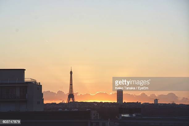 Eiffel Tower Against Sky At Morning