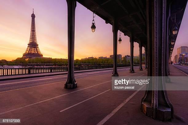Eiffel tower and Bir hakem bridge