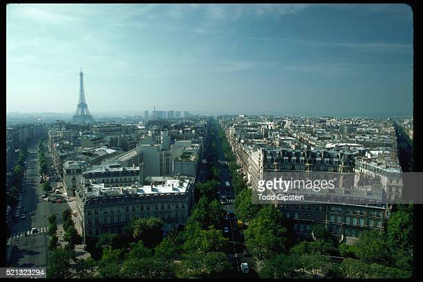 eiffel tower and city of paris - gipstein stock pictures, royalty-free photos & images