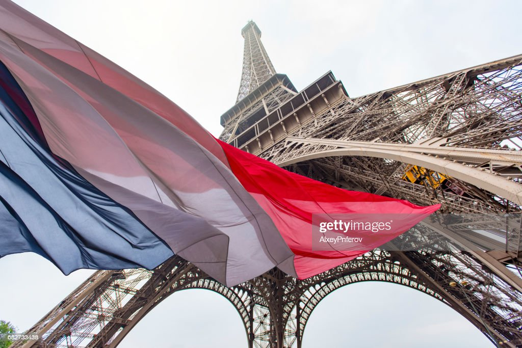 Eiffel Tower and French Flag