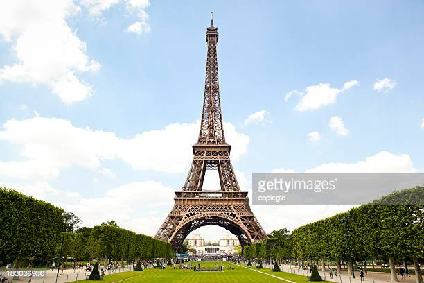 Eiffel Tower and garden in Paris, France