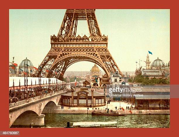 Eiffel Tower And General View Of The Grounds Exposition Universal Paris France Between Ca 1890 And Ca 1900