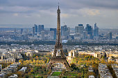 Eiffel Tower and La Defense