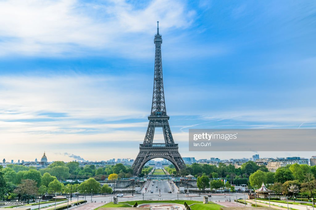Eiffel Tower and Paris city in the morning, Paris, France Paris, France : Foto de stock