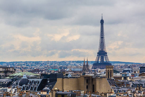 Eiffel Tower and Paris skyline, France.