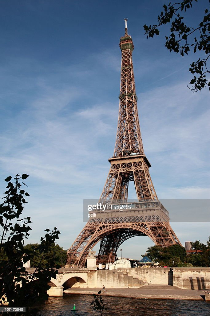 Eiffel Tower and the Seine River : Stock Photo
