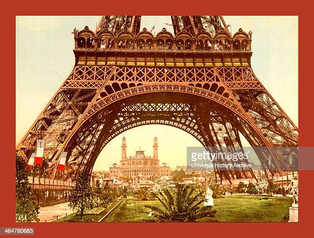 Eiffel Tower And The Trocadero Exposition Universal Paris France Between Ca 1890 And Ca 1900