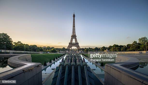 Eiffel Tower at Paris, France in the morning