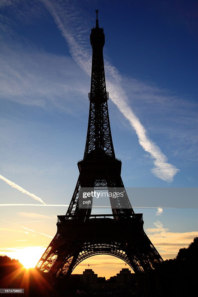 Eiffel Tower by sunset in Paris XXXL : Stock Photo