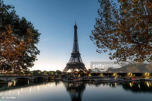 Eiffel Tower during the blue hour