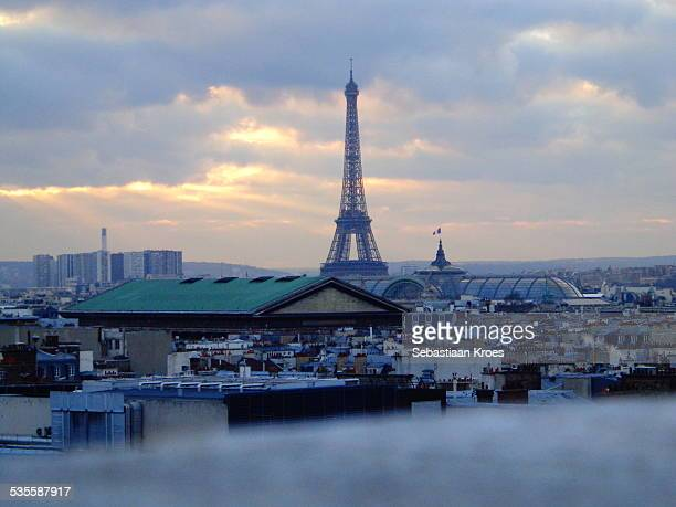 Eiffel Tower from a distance, Paris, France