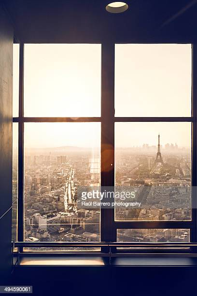 Eiffel tower from Montparnasse tower. Paris.