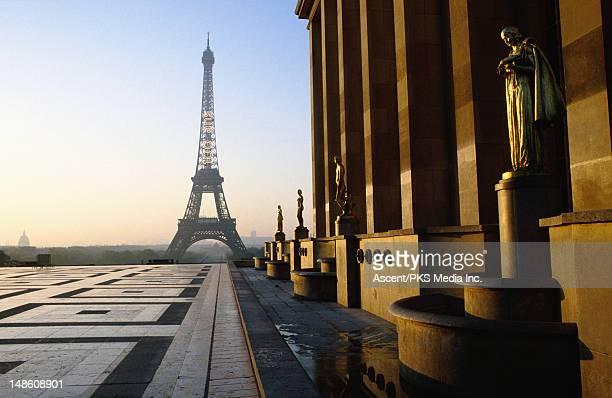eiffel tower from palais de chaillot. - トロカデロ地区 ストックフォトと画像