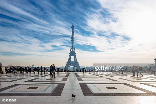 Eiffel Tower from Rights of Man Square