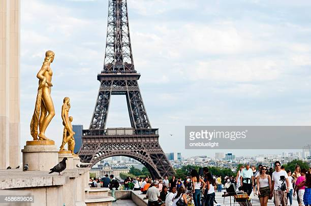 Eiffel Tower from the Trocadero, Paris-France