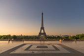 Eiffel tower from Trocadero garden