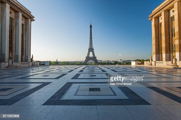 Eiffel Tower from Trocadero in Paris, France