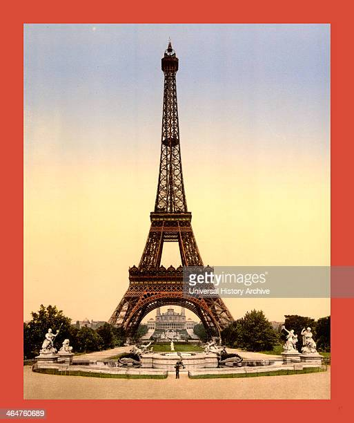 Eiffel Tower Fullview Looking Toward The Trocadero Exposition Universal Paris France Between Ca 1890 And Ca 1900