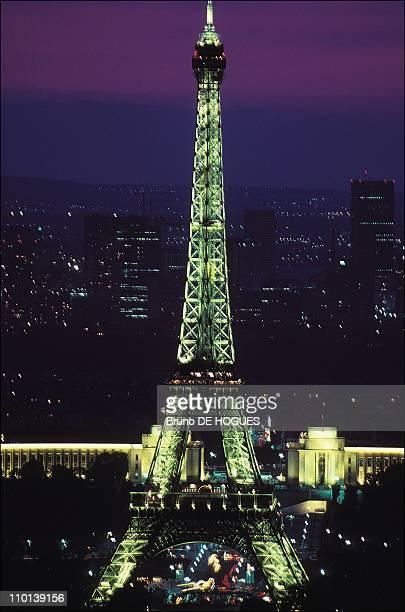 Eiffel Tower in Paris France in July 1986