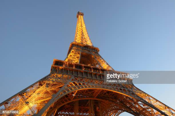 Eiffel Tower in Paris on December 20 2015 in Paris France