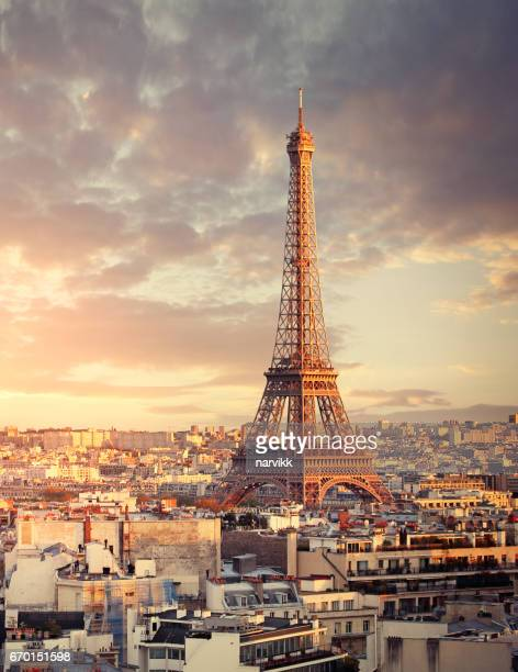 eiffel tower in paris - eiffel tower stock pictures, royalty-free photos & images