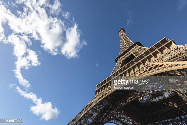 Eiffel tower in Paris view from the bottom , France