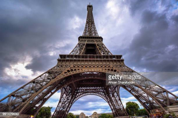 Eiffel Tower on a Cloudy Evening