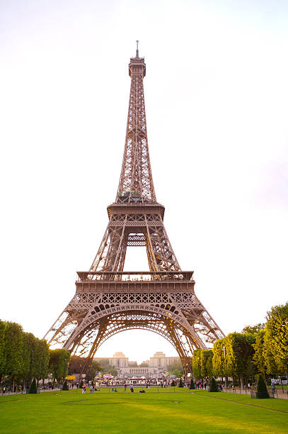 Eiffel Tower on the Champ de Mars.