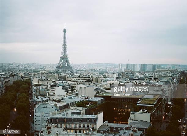 Eiffel Tower, Paris, aerial view