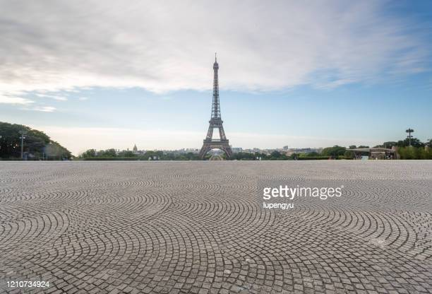 eiffel tower - paving stone stock pictures, royalty-free photos & images