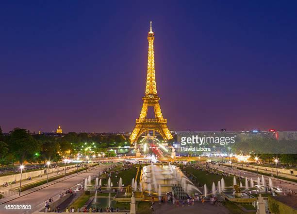 Eiffel Tower seen from The Esplanade du Trocadero