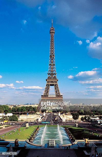 Eiffel tower seen from the Trocadero Paris IledeFrance France