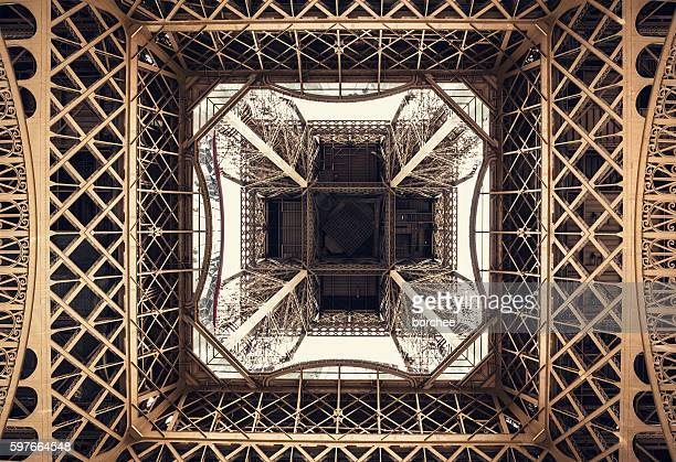 Eiffel Tower Structure From Below