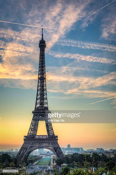 Eiffel Tower sunrise