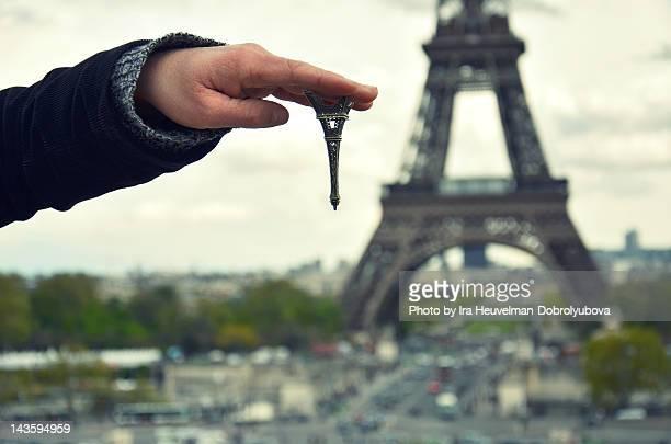 Eiffel Tower upside down
