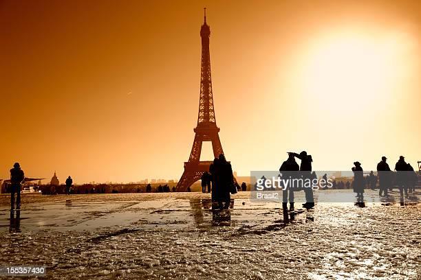Blick auf den Eiffelturm vom Trocadero