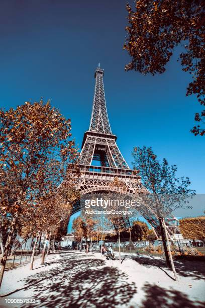 Eiffel's Tower In Paris, France in Autumn Ambient
