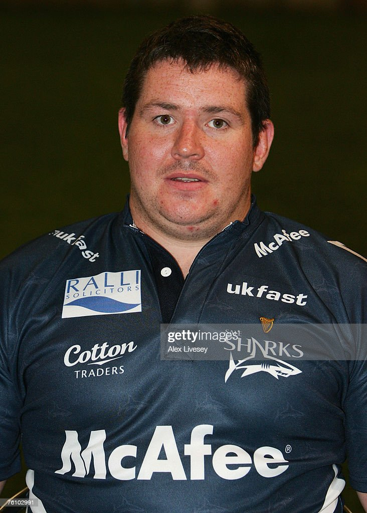 Eifion Roberts of Sale Sharks during the Sale Sharks Photocall held at the Carrington Training Complex on August 14, 2007 in Carrington, England.