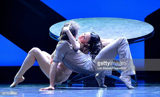 Eifman Ballet Company St Petersburg performing RODIN at The London Coliseum UK Rodin duet danced by Oleg Gabyshev Camille Andreyeva