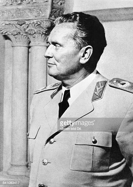 eigentlich Josip Broz* 07051892 Politiker Kommunist YU in Marschalluniform 1958