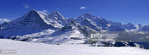 Eiger, Mönch, Jungfrau, Bernese Alps, Switzerland