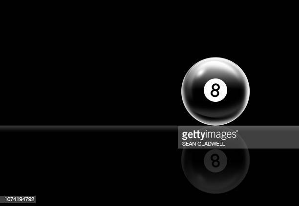eight ball pool ball illustration - competition round stock pictures, royalty-free photos & images