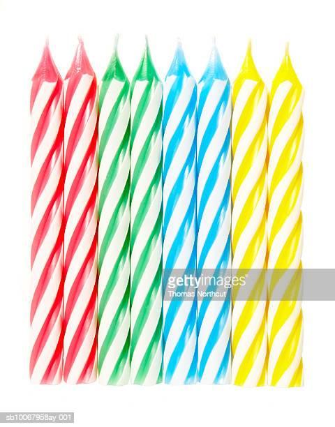 Eight birthday candles