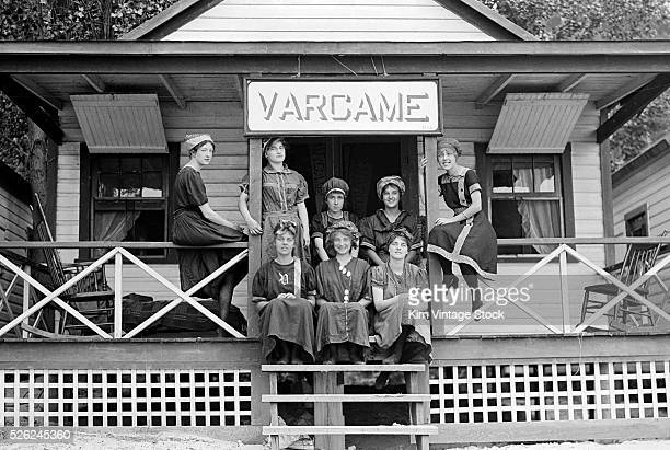 Eight college age women gather at a beach cabin for a vacation in Pennsylvania in the early 20th century.