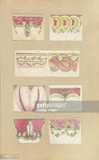 Eight Designs for Decorated Cups 184555 Artist Alfred Crowquill
