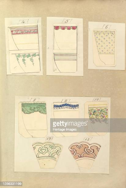 Eight Designs for Decorated Cups and Two Designs for Plate Rims 184555 Artist Alfred Crowquill