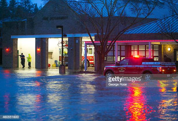 Eight inches of rain fell on Northern California's Wine Country in a 24hour period causing widespread flooding on December 11 in Healdsburg...