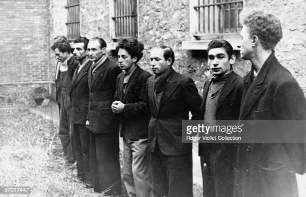 Eight members of the French communist urban guerilla resistance unit 'The Missak Manouchian Group' including their Armenianborn leader Missak...